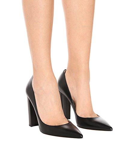 Ubeauty Talon À 10 Chaussures Femmes Pointu Cm Talons Noir Bloc Hauts Escarpins Bout Femme FFArqd1