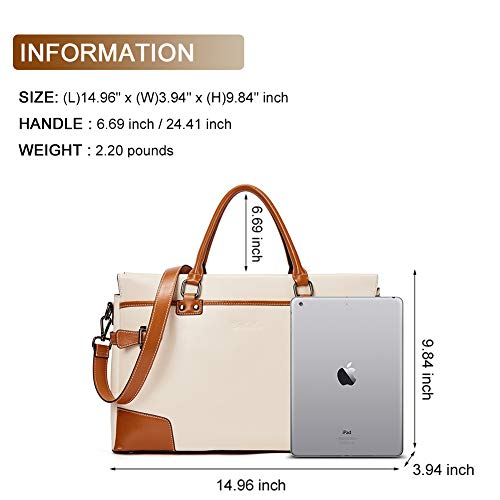 BOSTANTEN Leather Briefcase Messenger Satchel Bags Laptop Handbags for Women by BOSTANTEN (Image #2)