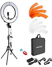 Neewer Camera Photo Video Lightning Kit: 18 Inches/48 Centimeters Outer 55W 5500K Dimmable LED Ring Light, Light Stand, Bluetooth Receiver for Smartphone, YouTube, TikTok Self-Portrait Video Shooting