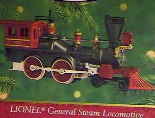 QX6684 Lionel General Steam Locomotive Lionel Trains 5th Hallmark Keepsake Ornament 2000 ()