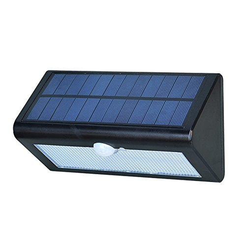 3-in-1 LED Solar Light Garden,WONFAST 38LED Solar Powered Motion Sensor Outdoor Security Wall Lamp for Outdoor Yard, Home, Driveway, Garage, Stairs Waterproof (black)