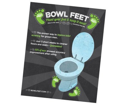 Price comparison product image Bowl Feet Men's and Boy's Toilet Training Kit For Cleaner Floors and Bowls