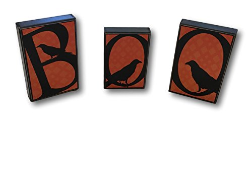 HM Hallmark Spooky BOO with Black Crow Home Decor Table Pictures Free Standing Block Letter]()