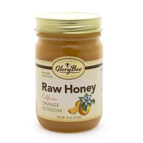 GloryBee Orange Blossom Raw California Honey, 18 Ounce