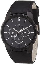 Skagen Men's 856XLBLB Steel Black Matte Dial Multifunction Watch