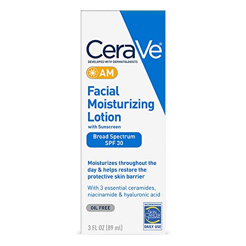 CeraVe Facial Moisturizing Lotion AM SPF 30 | 3 oz | Daily Face Moisturizer with SPF | Packaging May Vary (Best Body Moisturizer With Spf)