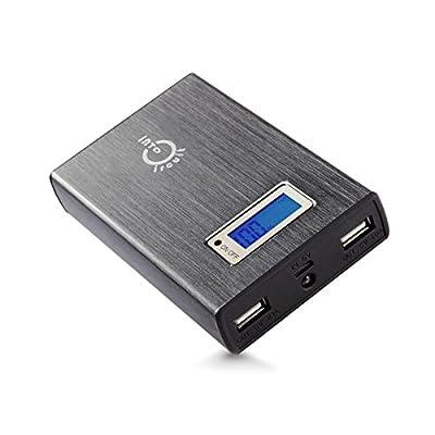Intocircuit Power Castle 11200mAh Portable 5V 2A/1A Dual USB Ports External Battery backup power Pack Charger for iPhone 5S, 5C, 5, 4S, 4, 3GS; iPad Air, 5, 4, 3, 2, Retina iPad Mini 2, HTC One, Samsung Galaxy S4, S3, PS Vita; Nokia Lumia; Google Nexus 4,