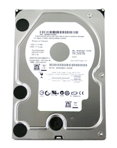 Western Digital Caviar Green WD5000AACS 500GB 5400 to 7200 RPM 16 MB Cache SATA 3.0 Gb/s Hard Drive