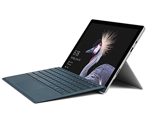 Microsoft Surface Pro 128GB i5 8GB RAM with Cobalt Signature Type Cover Bundle (WiFi Only, 2.6GHz i5, 12.3 Inch Touchscreen) Newest Version (Certified Refurbished) -