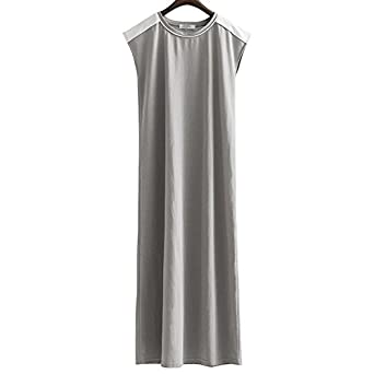 Yanick Mark Summer Dress Women Tunic Loose Short Sleeve Slim O neck Long Midi Dresses NEW