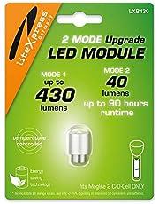 LiteXpress LXB430 2 Mode LED Upgrade Module 430 of 40 Lumen Alleen voor 2 C/D Cell Maglite Zaklampen