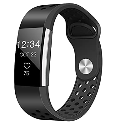 For Fitbit Charge 2 Bands, Humenn Replacement Accessory Sport Wristband for Fitbit Charge 2 HR Large Small