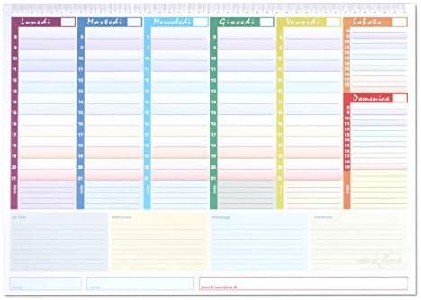 Rainbow - Planner Semanal 42 X 30 - Agenda Planner de mesa ...