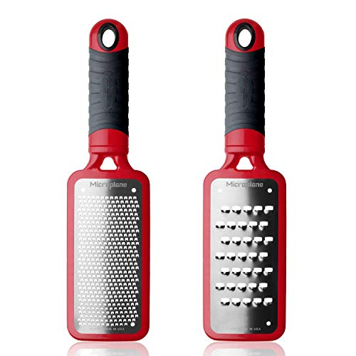 Microplane Home Series Fine Grater and Extra Coarse Grater, Red ()
