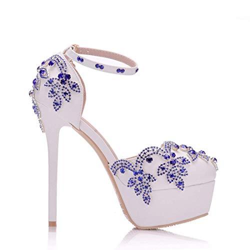 Para color Hhgold Color 2 5 Mujer Cristal Tamaño En Tachuelas Tachas De Blanco Redonda Zapatos Unido Novia Rendimiento Con Reino Punta Satinado 7R7rY