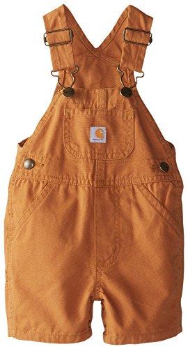 Boys Shortall (Carhartt Little Boys Baby Boy Short Sleeve Shortall, Carhartt Brown, 18M)
