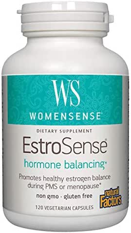 WomenSense by Natural Factors, EstroSense, Supports Hormone Balance During PMS and Menopause, Gluten Free, 120 capsules (60 servings)