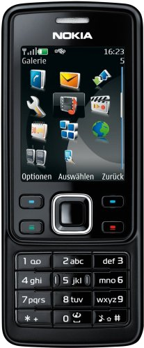 Nokia 6300 black (EDGE, GPRS, Kamera mit 2 MP, Musik-Player, Bluetooth, Organizer) Handy