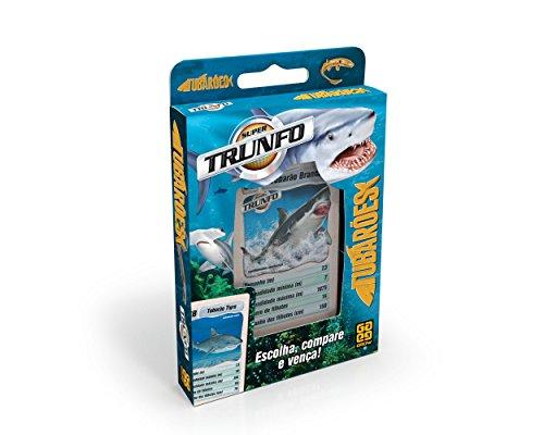 Grow - Trunfo Tubarões Jogo de Cartas, Multicolorido, (Grow 3133)