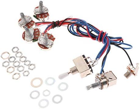 Sharplace Juego de Cableado Circuitos con Potenciómetro para Partes de Guitarra Eléctrica - Blanco, tal como se describe