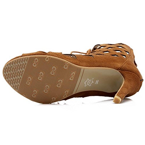 Coolcept Brown Zapatos Toe Mujer Bombas Peep wxqTBa7R