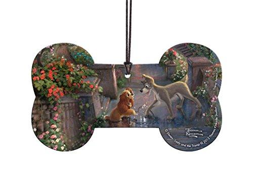Trend Setters Disney Lady and The Tramp Bone Shaped Hanging Acrylic Decor Sun Catcher - Thomas Kinkade Art