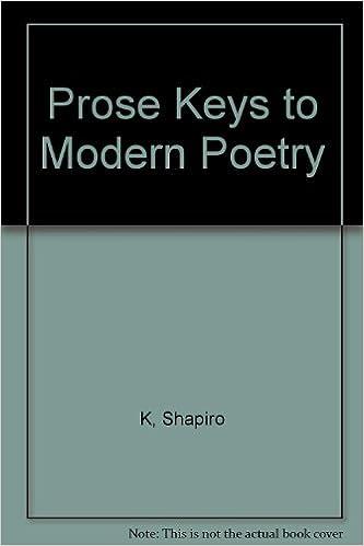 Prose Keys to Modern Poetry