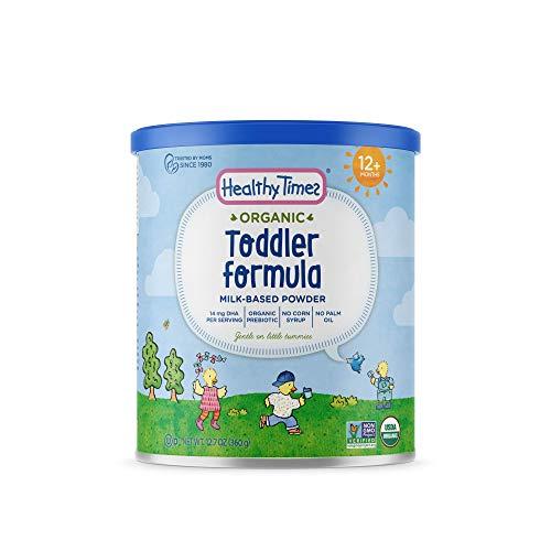 Healthy Times Organic Toddler Milk Formula, Vanilla Tapioca | For Toddlers 12 Months & Older | Milk Based Powder, Gentle on Sensitive Stomachs | 12.7 oz