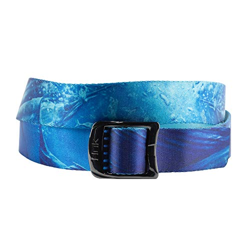 HUK Printed Web Belt | Rising Sailfish | 100% Nylon | Quick Dry | 52