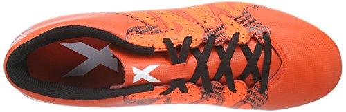 adidas X 15.4 FXG - Botas para hombre Naranja / Blanco