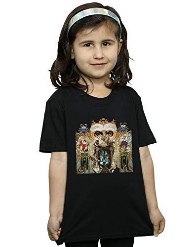 Michael Jackson Girls Dangerous Album Cover T-Shirt Black 9-11 Years