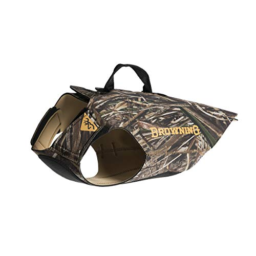 Browning Camo Neoprene Dog Vest | Realtree MAX-5 | Size Medium