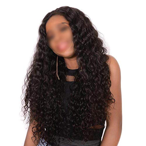 Deep Wave Lace Front Human Hair Wigs Malaysian Lace Wig Human Hair Pre Plucked 4X4 Lace Wig With Baby Hair Non Remy,18inches,130% -