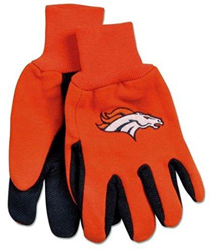 Official NFL Utility Grip Gloves with Your Favorite Team Logo (DENVER ()