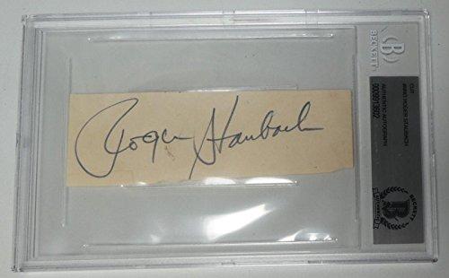 (Autographed Roger Staubach Football - Vintage Cut BAS Beckett COA QB - Beckett Authentication - NFL Cut Signatures)