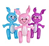 Rhode Island Novelty 24'' Bunny Inflates Blow Up Decoration | Pack of 12 |