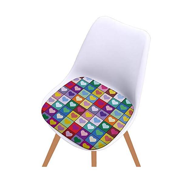Bledyi, Cuscino Quadrato colorato per Sedia, per Interni ed Esterni, per Soggiorno, Patio, Ufficio, 40 x 40 cm 6 spesavip