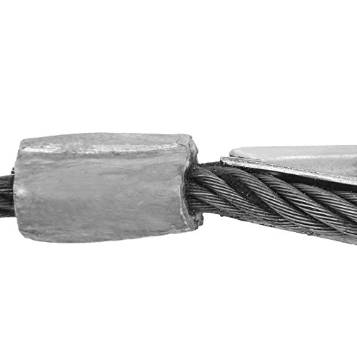"""LOVSHARE 3/8"""" 75 FT Wire Rope 2T Steel Core Winch Cable with Self Locking Swivel Hook Steel Cable for Tow Truck Flatbed (75 FT) by LOVSHARE (Image #5)"""