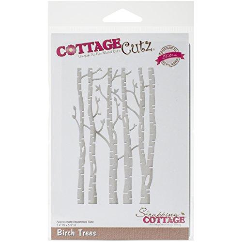 CottageCutz Birch Trees Elites Die, 3.4 by 5.5