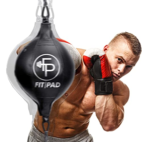 Fitpad Reflex Bag I Double End Punching Ball for Boxing and MMA I Complete Kit Includes Jump Rope and Headband I Sports…