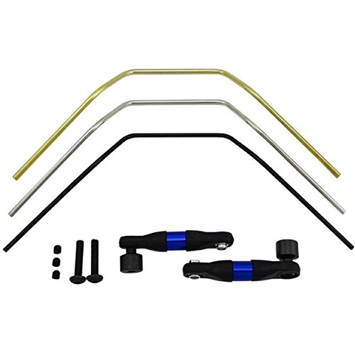 Hot Racing LRR311F Aluminum Front Sway Bar Set - Br (Gold Soft Bushings)