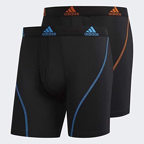 adidas mens Sport Performance Boxer Briefs Underwear (2 Pack)