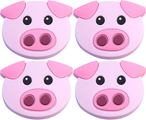 - Four (4) of Piggie Pig Rubber Charms for Wristbands and Shoes
