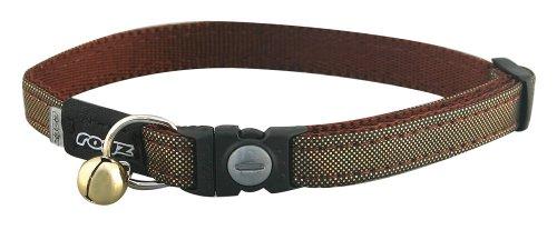 Rogz Catz Glitter Cat Safeloc Breakaway Clip Adjustable Cat Collar, Small .375-Inches, Gold Design