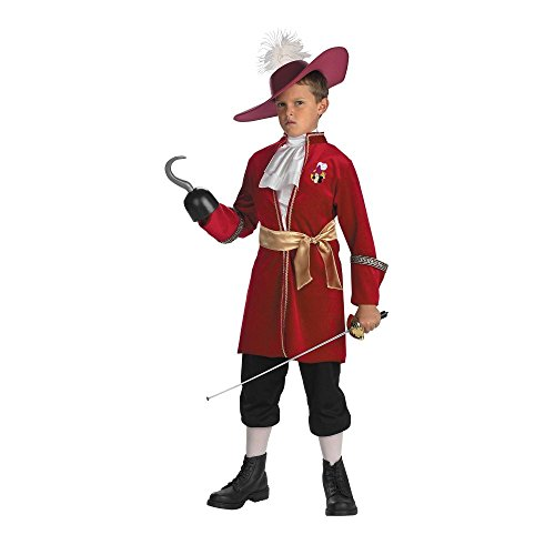 Captain Hook Costume - Small (Captain Hook Adult Costume)