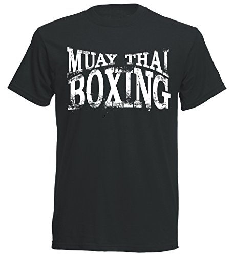 Muay Thai Boxing T-Shirt - MMA Thaiboxen Freefight - schwarz
