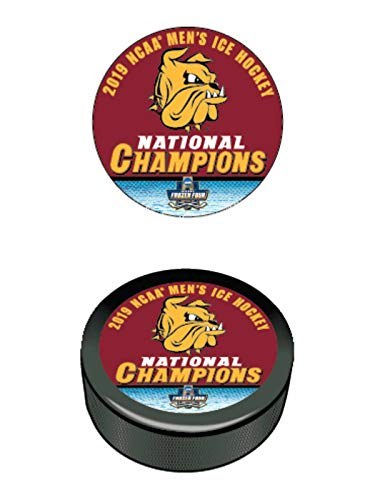 WinCraft Minnesota Duluth Bulldogs 2019 NCAA Men's Frozen Four Champions Hockey Puck