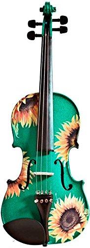 Rozanna's Violins Sunflower Delight Green Violin Outfit 4/4 B004HCQAWO