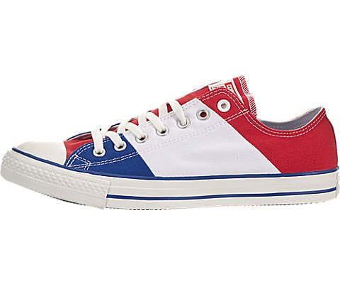 Converse Unisex Chuck Taylor All Star Low Top Red/White/Bl Sneakers - 4 D(M) US