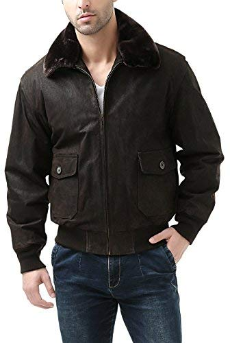 Landing Leathers Navy Men's G-1 Distressed Leather for sale  Delivered anywhere in USA